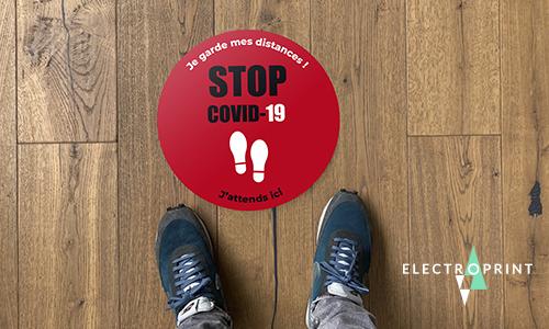 Sticker de Sol Rond COVID-19