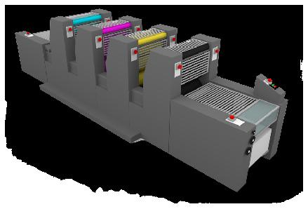 Press offset 4 couleurs