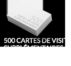 500 Cartes de visite 1 euros de plus