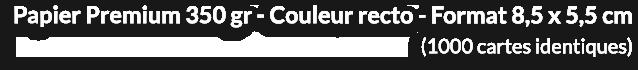 1000 Cartes de visite 16 euros ht