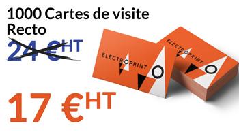 1000 Cartes De Visite 17 EUR HT