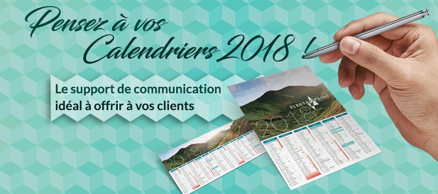 Communication : Il est temps de penser au calendrier 2018 !