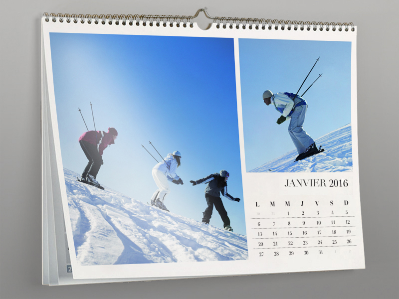 Calendrier mural 2016 a4 21 x 29 7 cm 13 pages for Calendrier digital mural